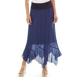 Navy Gauze Skirt